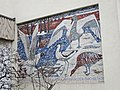 1210 Prager Straße 31 - Marianne und Oscar Pollak-Hof - Wandmosaik Wasservögel beziehen ihr Winterquartier von Hans Stockbauer 1960 IMG 0055.jpg