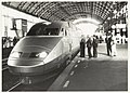 150-jarig bestaan van de Nederlandse Spoorwegen. Bezoek van de Franse spoorwegen, de TGV Sud-Est 305 (TGV 24 009) op spoor 3a, NL-HlmNHA 54023476.JPG