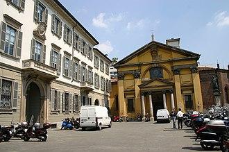 Fabio Mangone - Fabio Mangone, Facade of the church of Santa Maria Podone in Milan.