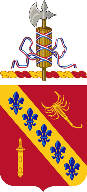 168th Field Artillery Regiment - Coat of arms