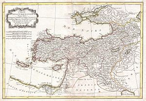 Ottoman Iraq - Image: 1771 Bonne Map of Turkey, Syria and Iraq Geographicus Turkey bone 1771