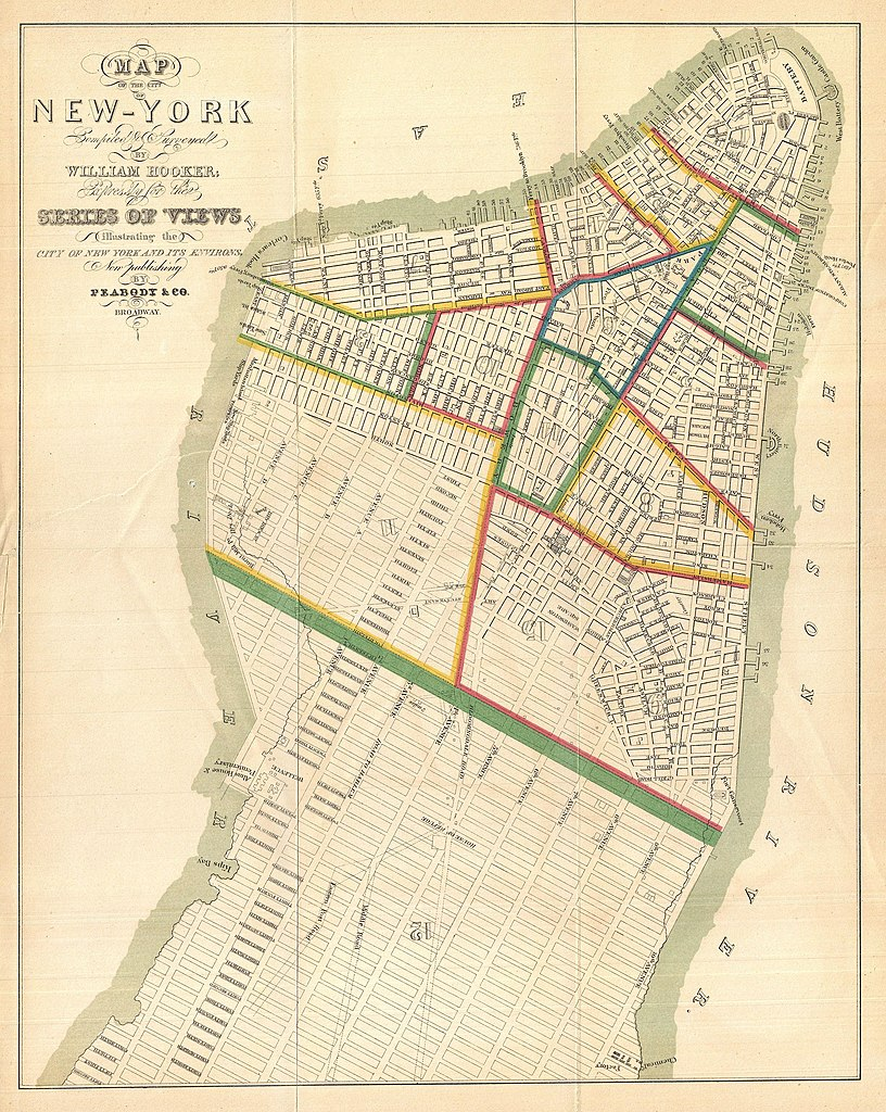 Simple Map Of New York City.File 1831 Hooker Map Of New York City 1871 Reissue Geographicus