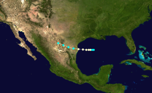 1854 Atlantic hurricane season - Image: 1854 Atlantic hurricane 1 track