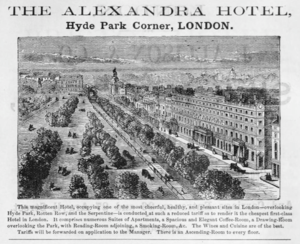 Francis Fowler (architect) - The Alexandra Hotel in an 1885 advertisement
