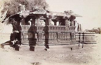 Karna (Chaulukya dynasty) - Image: 1885 photo of Hindu temple ruins at Dilmal, Gujarat, India