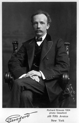 Symphonia Domestica - Photograph of Strauss taken in New York during his 1904 US tour.