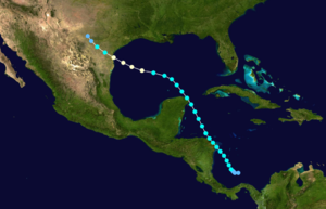 1913 Atlantic hurricane season - Image: 1913 Atlantic hurricane 1 track