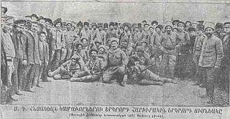 Russian Armenia - A Russian-Armenian volunteer unit during World War I.