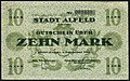 1918-12-01 Stadt Alfeld (Leine) Gutschein über 10 Mark Unterschrift Der Magistrat Das Bürgervorsteher-Kollegium.jpg