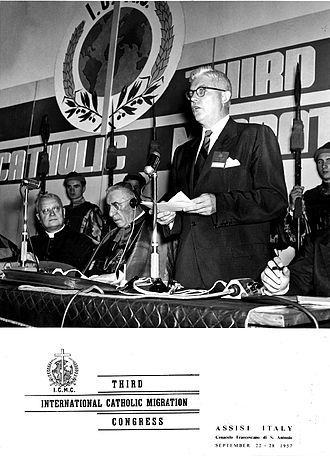 International Catholic Migration Commission - Third ICMC Congress in Assisi (Italy), 1957.