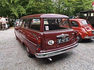 International vehicle registration code - A 1960 Borgward Isabella showing the international vehicle code NL (Netherlands)
