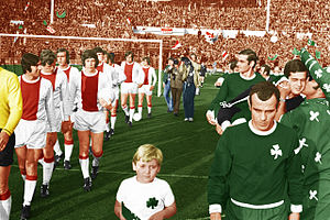 Football in Greece - The team of Panathinaikos against Ajax in the 1971 European Cup Final.