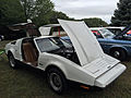 1974 Bricklin 4 speed white at Potomac Ramblers meeting 06.jpg