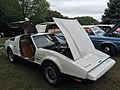 1974 Bricklin 4 speed white at Potomac Ramblers meeting 06.jpg