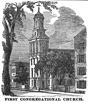 First Church in Boston - Image: 1st Cong Chauncy Pl Boston Homans Sketches 1851