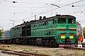 2ТЭ10М-2831, Украина, Днепропетровская область, станция Нижнеднепровск-Узел (Trainpix 196429).jpg