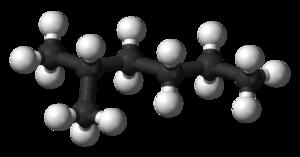 2-Methylhexane - Image: 2 methylhexane 3D balls