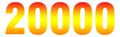 20000 in numbers from red to yellow to orange.png
