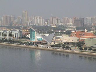 Ersha Island - Guangdong Museum of Art and the Xinghai Music Hall on Ersha Island.