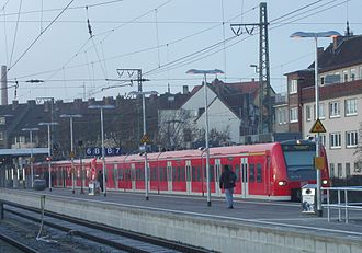 Hanover S-Bahn - Class 425 electric multiple unit on the opening day of the S-Bahn in Hildesheim