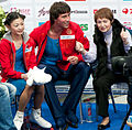2011 Rostelecom Cup - Kavaguti&Smirnov LP kiss-and-cry.jpg