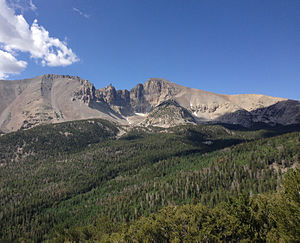 Snake Range - Image: 2013 07 14 09 37 43 Wheeler Peak viewed from Wheeler Peak Scenic Drive in Great Basin National Park