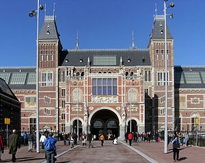 2016 European Athletics Championships – Men's half marathon - The entrance to the Rijksmuseum where the start and finish took place
