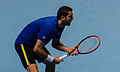 2014-11-12 2014 ATP World Tour Finals Marin Cilic preapring to return by Michael Frey.jpg