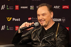 Montenegro in the Eurovision Song Contest 2015 - Knez at a press meet and greet