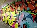 2015 191st Street IRT station tunnel Follow Your Dreams.jpg