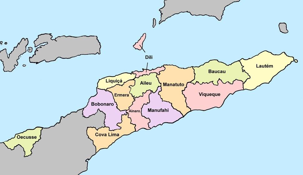 2015 East Timor, administrative divisions - de - colour