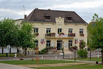 Le Trait - The town hall in Le Trait