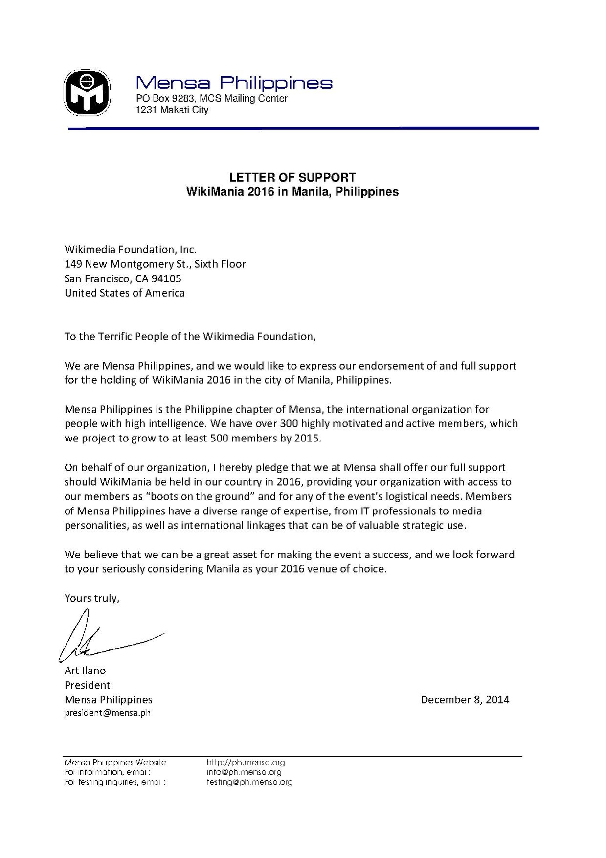 Sample International Job Offer Letter