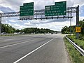 2019-05-27 13 07 25 View south along the inner loop of the Capital Beltway (Interstate 95 and Interstate 495) at Exit 23 (Maryland State Route 201-Kenilworth Avenue, Greenbelt, Bladensburg) in Greenbelt, Prince George's County, Maryland.jpg