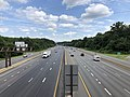 2019-07-07 15 42 49 View south along Interstate 270 (Washington National Pike) from the overpass for Maryland State Route 927 (Montrose Road) on the edge of North Bethesda and Potomac in Montgomery County, Maryland.jpg