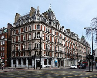 Grosvenor Gardens House apartment block in London