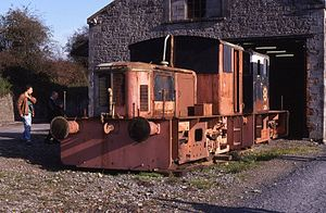 Irish Traction Group - G611 Class locomotives 617 and 616 while under restoration at Carrick-on-Suir