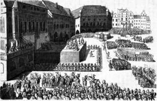 Old Town Square execution execution of 27 Czech Protestant leaders on Pragues Old Town Square