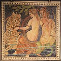 2nd Century BC Ancient Roman mosaic of Triton with a Nereid and a Sea Monster (that looks like a Sea Tiger) from the Lyon Musee des Beaux Arts (13967436178).jpg