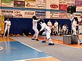 2nd Leonidas Pirgos Fencing Tournament. Double touch for Panagiota Georgitsa and Eleanna Gousi.jpg