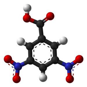 3,5-Dinitrobenzoic acid - Image: 3,5 dinitrobenzoic acid 3D balls