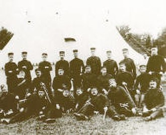 The Ontario Regiment (RCAC) - Officers of the 34th (Ontario) Battalion of Infantry at Camp Niagara, 1892