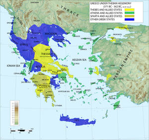 Hegemony - Ancient Greece under the hegemony of Thebes, 371–362 BC