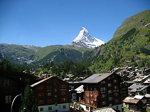 Zermatt - Image: 3802 Zermatt Matterhorn viewed from Gornergratbahn