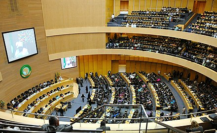 Assembly in session 50th Anniversary African Union Summit in Addis Ababa, Ethiopia.jpg