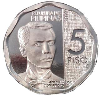 Philippine five-peso coin Philippine coin