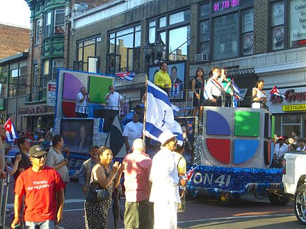 A Univision float in the 2010 North Hudson Cuban Day Parade in Union City, New Jersey. 6.6.10CubanParadeUCByLuigiNovi9.jpg
