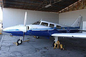 612 Piper PA-34 Seneca II Guatemalan Air Force (7468462904).jpg