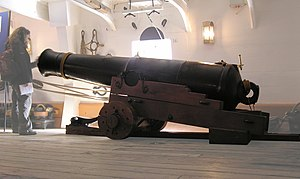 68-pounder gun - Replica 68-pounder aboard HMS ''Warrior''.