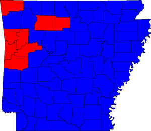 Arkansas gubernatorial election, 1984 - Image: 84ARGov Counties